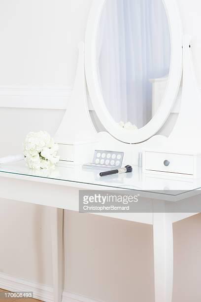 ブライダルブーケの化粧テーブル