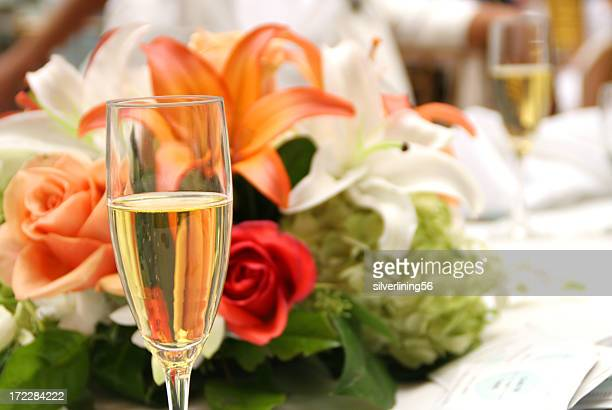 bouquet de la mariée de champagne