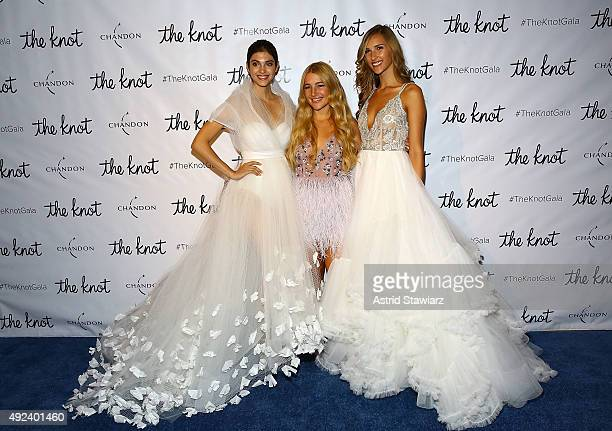 Bridal gown designer Hayley Paige attends The Knot Gala 2015 at New York Public Library on October 12 2015 in New York City