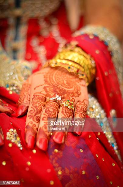 bridal hands - pakistani gold jewelry stock pictures, royalty-free photos & images