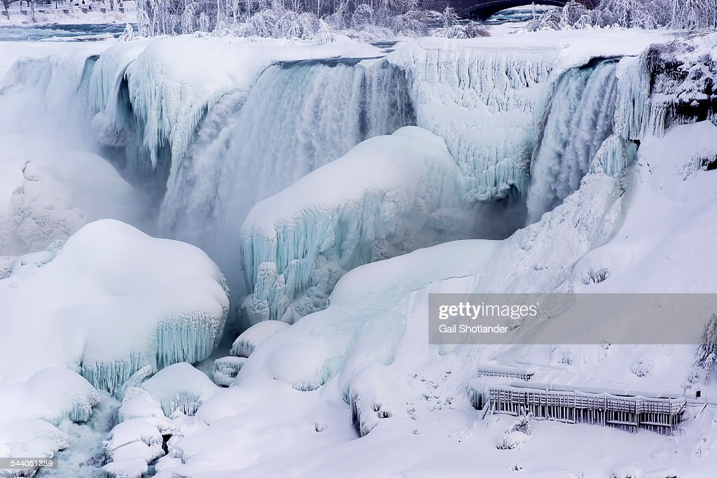 Bridal Veil Falls Frozen : Stock Photo