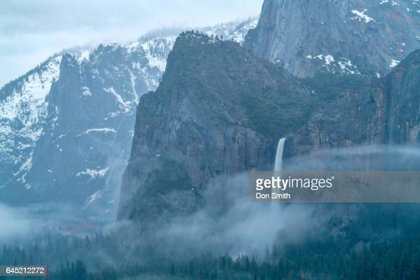 bridalveil fall and mist - don smith stock pictures, royalty-free photos & images