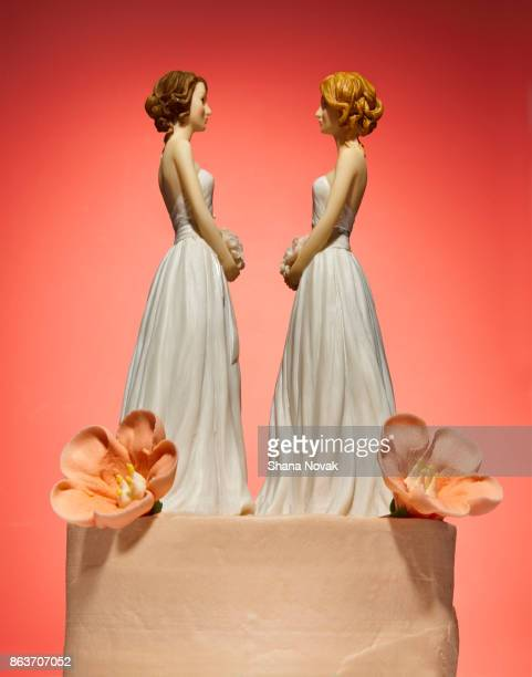 Bride and Bride Wedding Cake Topper