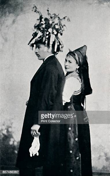 A bride and bridegroom of the Black Forest 1912 From The Living Races of Mankind Vol II [Hutchinson Co London 1912] Artist E Uhlenhuth