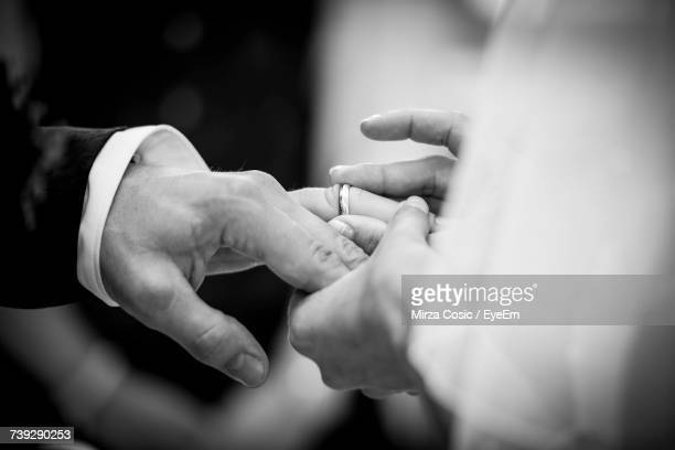 bride and groom at wedding - marriage stock pictures, royalty-free photos & images