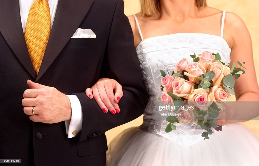 Bride and groom close up : Stock Photo