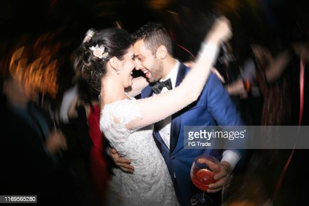 bride and groom dancing during their wedding party - drunk wife at party stock pictures, royalty-free photos & images