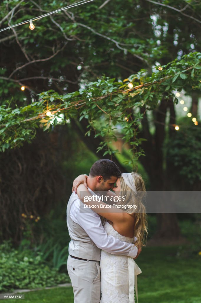 Bride and Groom Dancing : Stock Photo