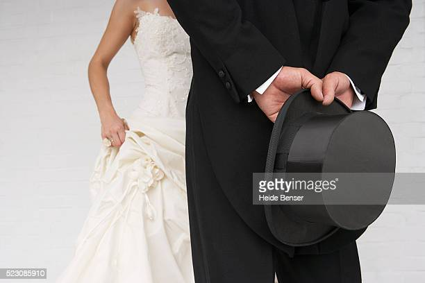 bride and groom dressed up - his and hers stock pictures, royalty-free photos & images