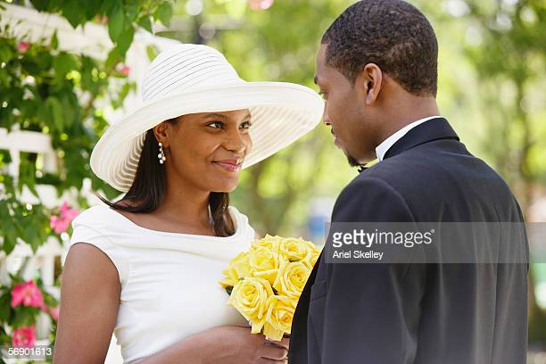 bride and groom during wedding ceremony - wedding vows stock pictures, royalty-free photos & images