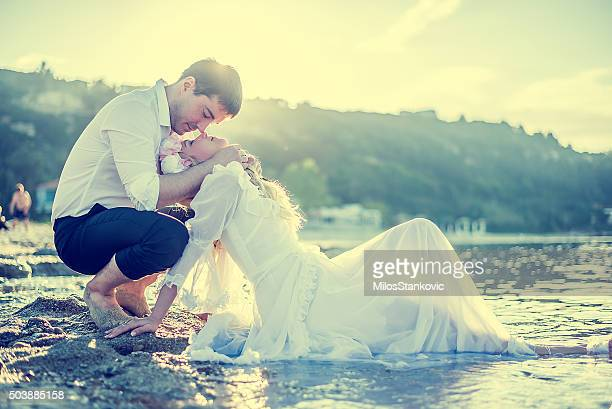 Bride and Groom enjoying in their love