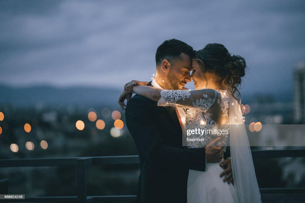 Bride and Groom enjoying in their love : Foto stock