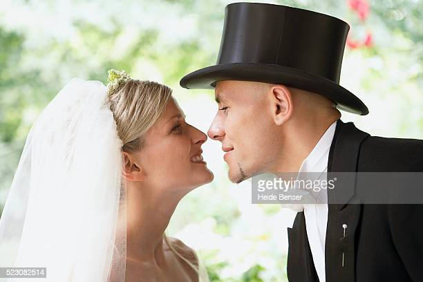 Bride and Groom face to face