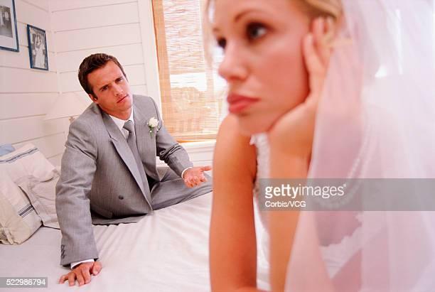 Bride and Groom Having Disagreement
