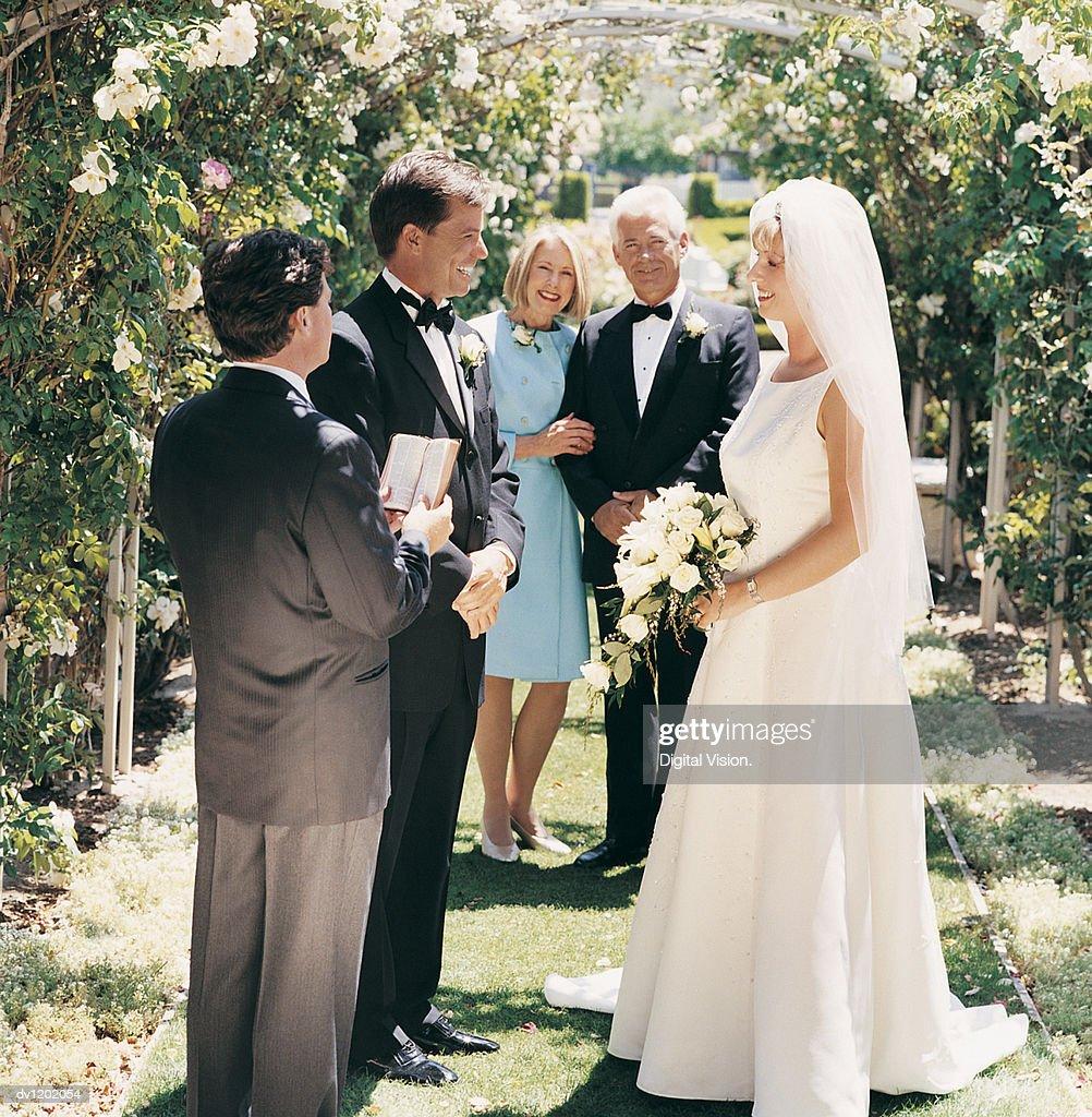 Mother of Bride Garden Wedding
