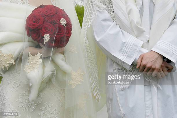 Bride and groom, Jewish Wedding Ceremony, UK
