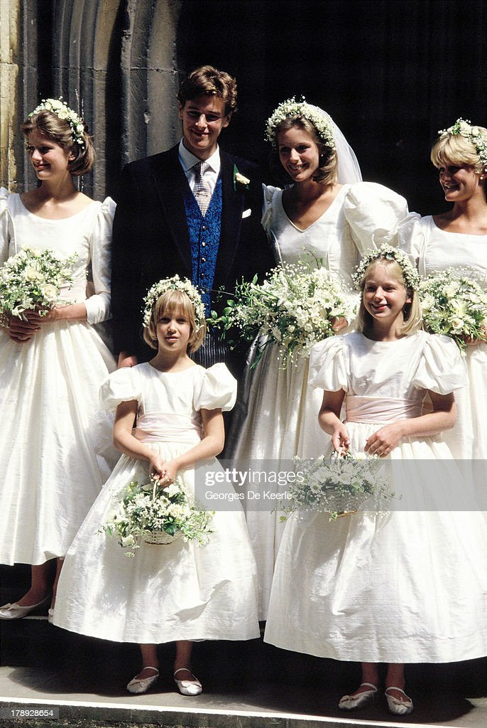 James Ogilvy And Julia Rawlinson Wedding : News Photo
