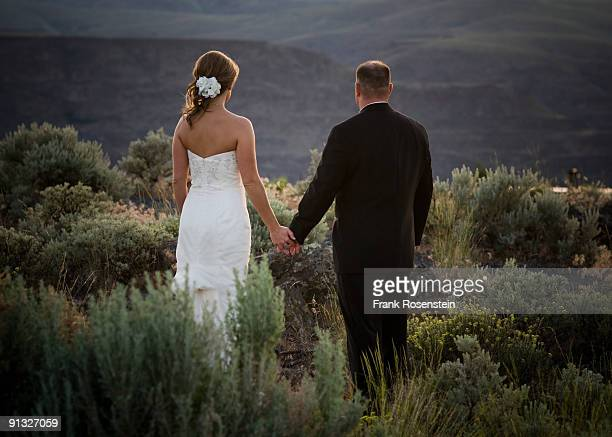 Bride and Groom portrait in nature