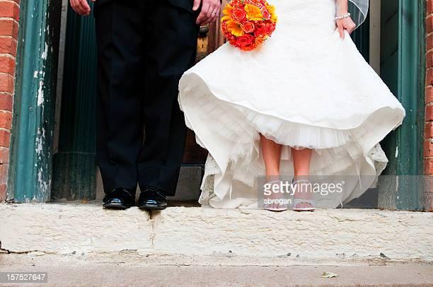 Le marié et la mariée chaussures