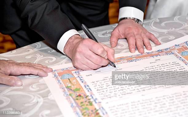Sposa e lo sposo di firmare Katuba