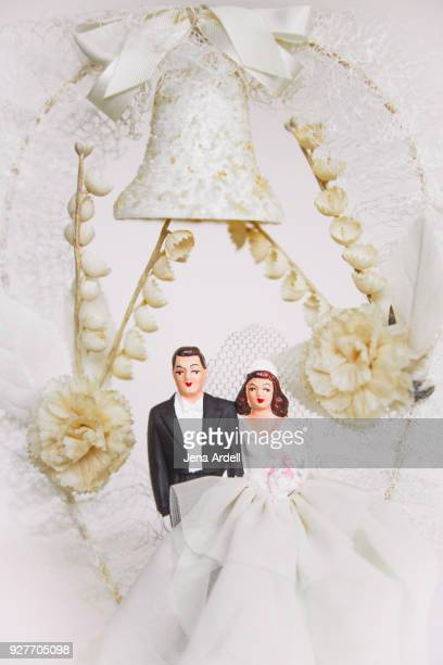 Bride And Groom Vintage Wedding Cake Topper
