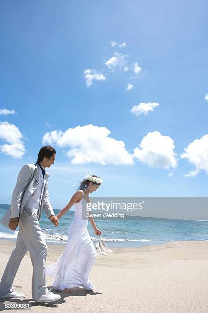 a20e1922199718 Beach Wedding Shoes For Bride Stock Photos and Pictures