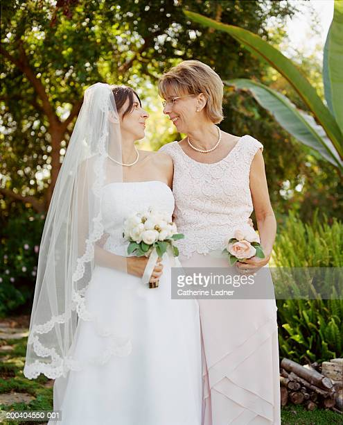 Bride and mother at wedding