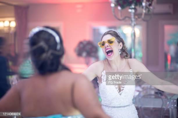 bride wedding guest dancing during wedding