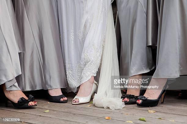 Bride & bridesmaids feet