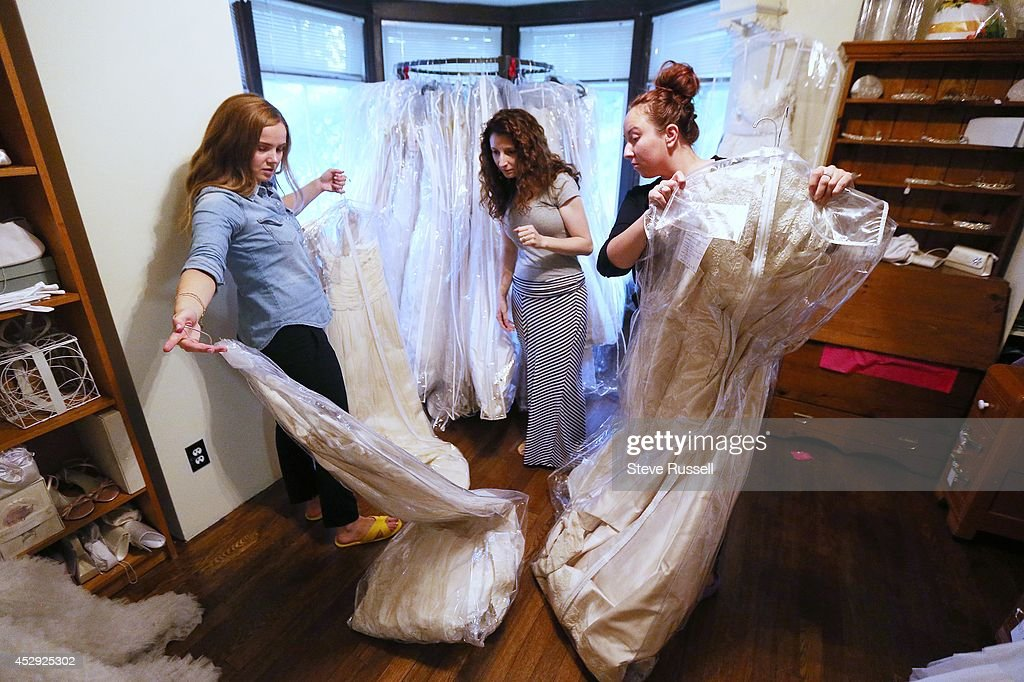 a838027f802 The Brides  Project celebrates 10 years of taking donated wedding gowns and  selling them to