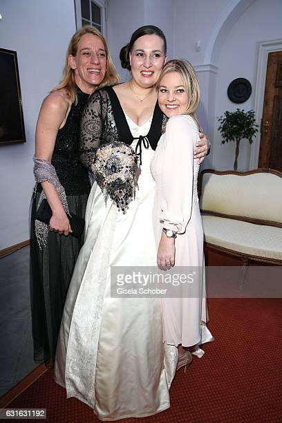 Bride Diana Graefin Bernadotte von Wisborg and Sandra Graefin Bernadotte von Wisborg and her sister Catherina Ruffing Graefin Bernadotte von Wisborg...