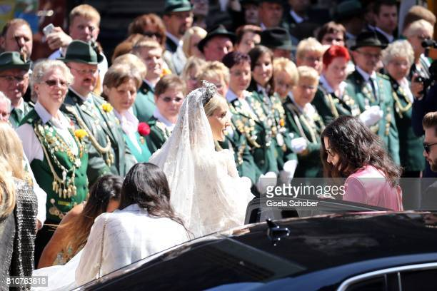 Bride Ekaterina Malysheva during the wedding of Prince Ernst August of Hanover jr Duke of BrunswickLueneburg and his fiancee Ekaterina Malysheva at...