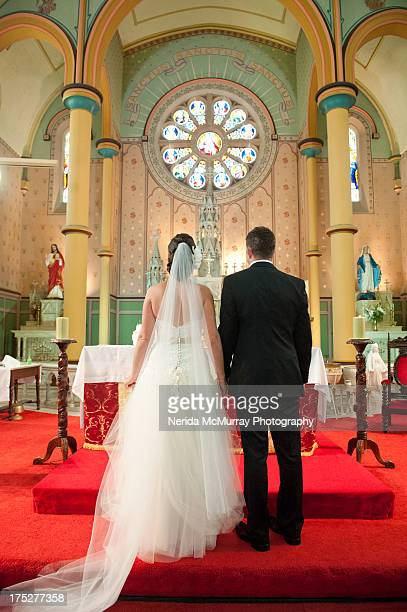 Bride & Groom at church