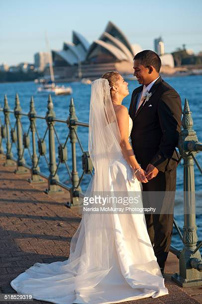 Bride & Groom near the harbour & opera house