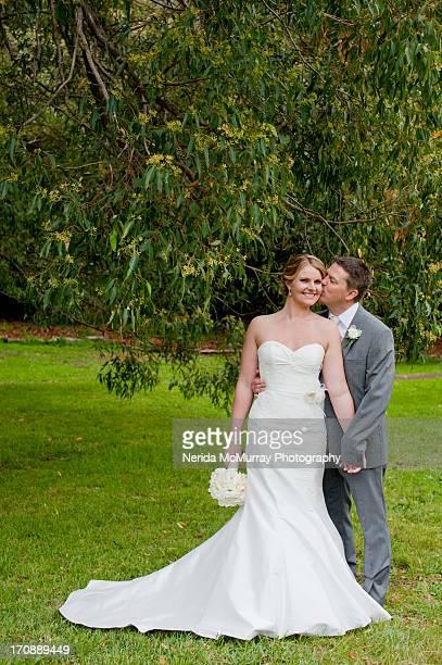 Bride & groom portrait - full length