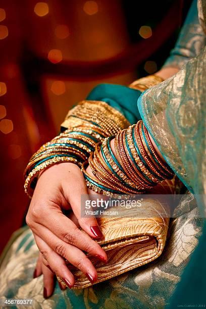 Bride hand in wedding day