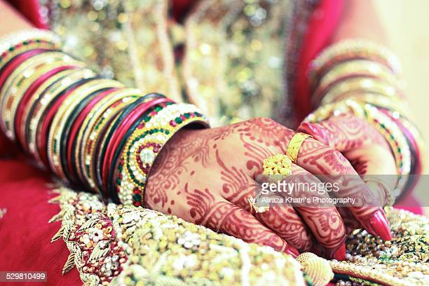 bride hand - pakistani culture stock photos and pictures