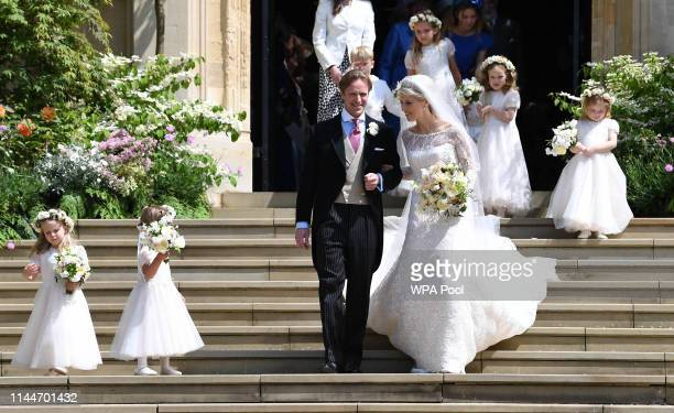 Bride Lady Gabriella Windsor and groom Thomas Kingston after their wedding at St George's Chapel Windsor Castle on May 18 2019 in Windsor England