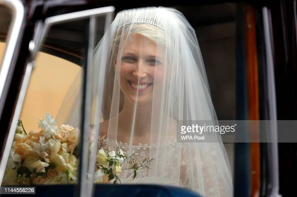 Bride Lady Gabriella Windsor arrives for her wedding to Thomas Kingston at St George's Chapel Windsor Castle on May 18 2019 in Windsor England