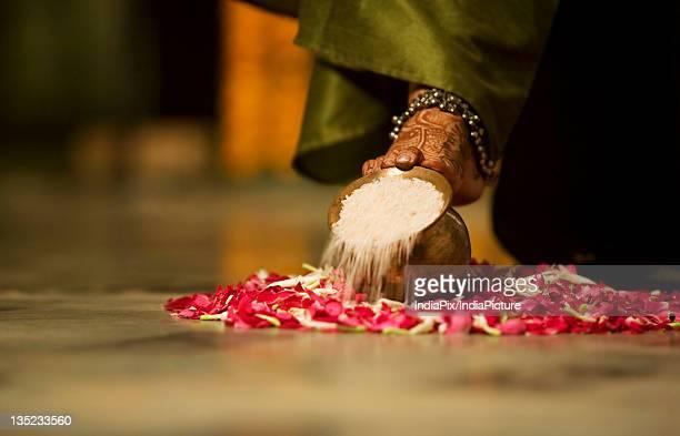 Bride performing a ritual