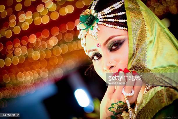 bride - bangladeshi wedding stock photos and pictures