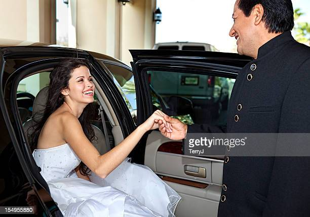 bride - doorman stock photos and pictures