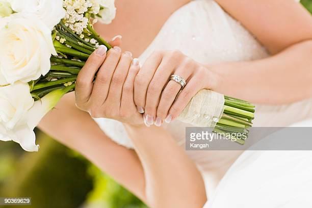 sposa - anello di diamanti foto e immagini stock