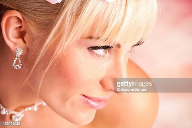Bride Portrait on pink background