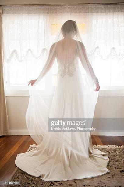 bride portrait - veil stock pictures, royalty-free photos & images