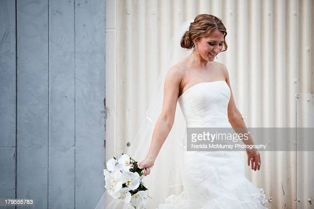 bride portrait - strapless stock pictures, royalty-free photos & images