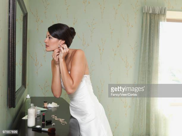 Bride preparing for wedding