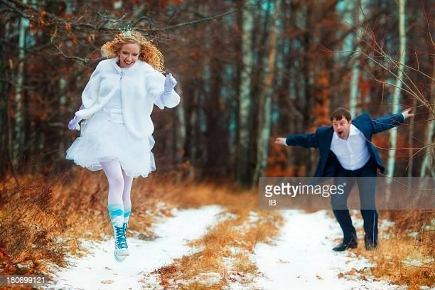 Bride - princess runs away from the groom