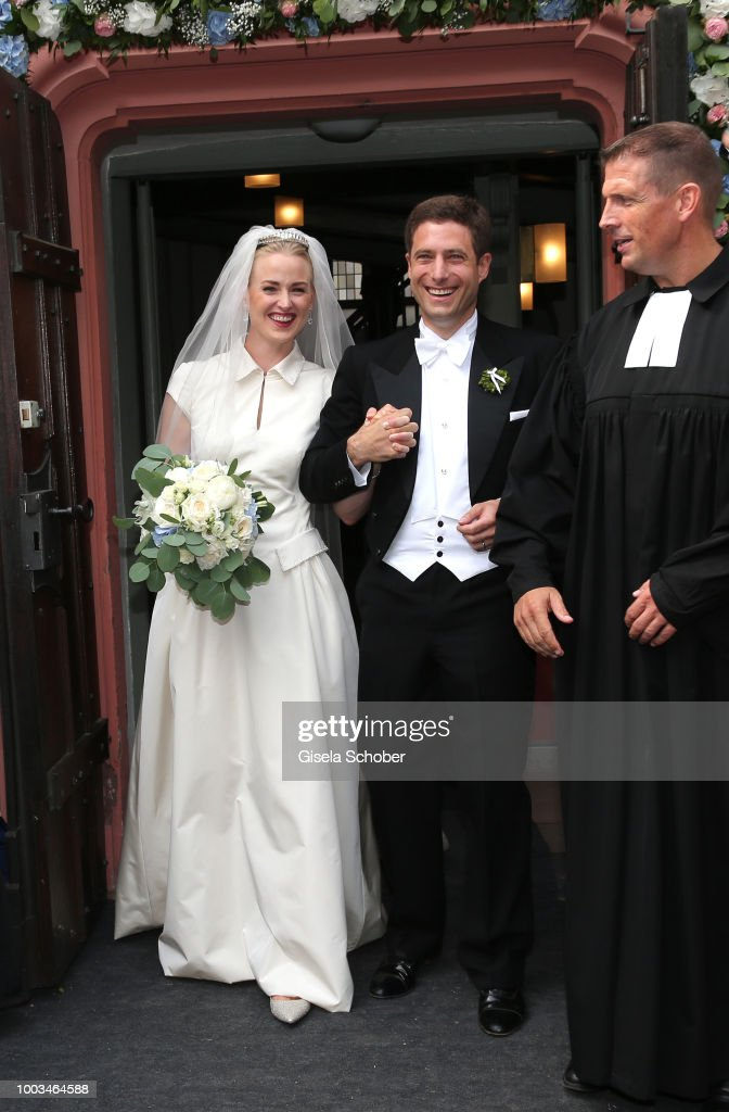 Wedding Of Princess Theodora Sayn-Wittgenstein and Earl Nikolaus Bethlen de Bethlen In Bad Laasphe : News Photo