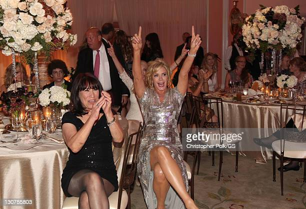 Bride Shannon Tweed and Guests attend the wedding of Gene Simmons and Shannon Tweed at the Beverly Hills Hotel on October 1 2011 in Los Angeles...